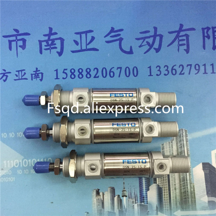 DSN-25-15-P FESTO Stainless steel mini-cylinder air cylinder pneumatic component air tools DSN series midcool mxh16 15 cylinder