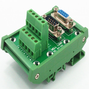 Image 4 - D SUB DB9 DIN Rail Mount Interface Module  Male/Female Header Breakout Board, Terminal Block, Connector.