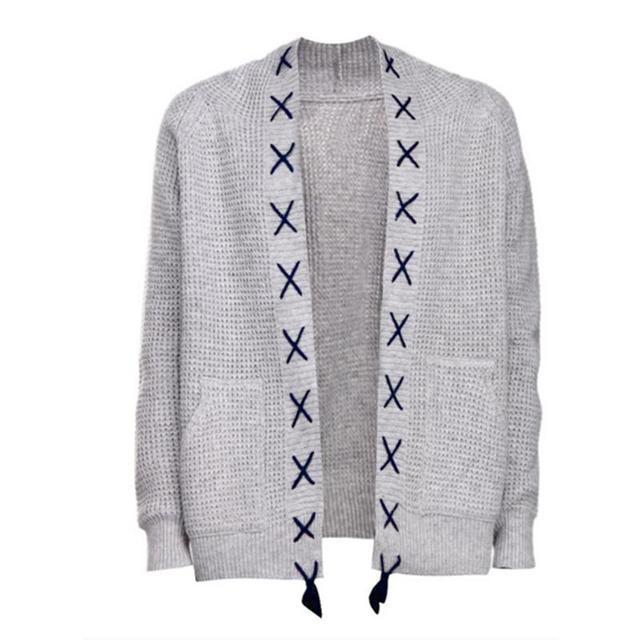 2018 otoño patrones de tejer suéteres para hombre informal suéter de ...