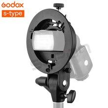 Godox S-type Soporte Bowens Montaje para Flash Reflector Snoot Softbox del Estudio Photo caja Suave Reflector Soporte Titulares