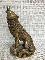 Chinese Copper sculpture wolf roar Statue statues for decoration Home Decorations