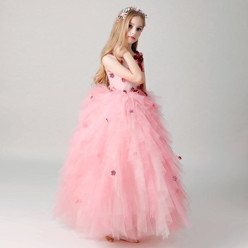 Summer Girl dress Costumes Princess dress Children 39 s wedding dress tutu Little host piano performance costume flower girl dress in Dresses from Mother amp Kids