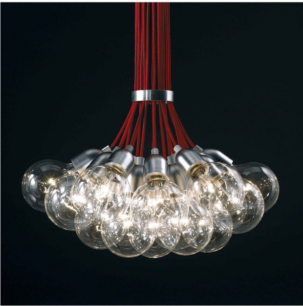 все цены на  modern red line glass bubble ball LED Pendant Light restaurant dinging room bar living room hanging Light droplight 110-240V  онлайн