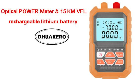 free shipping AB24M all in one FTTH Fiber Optical Power Meter 15km Visual fault locator rechargeable