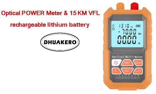 free shipping AB24M all in one FTTH Fiber Optical Power Meter 15km Visual fault locator rechargeable lithium battery