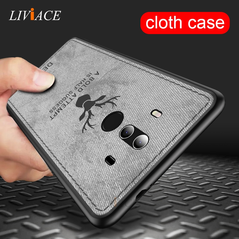 deer cloth leather phone case for huawei mate 10 9 pro soft tpu silicone back cover for huawei mate 10 lite 20 pro mate10 mate20
