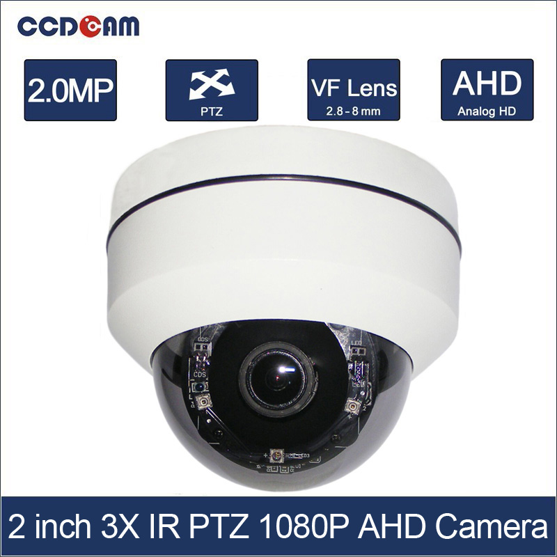 CCDCAM 2 inch 4in1 CVI TVI AHD 2MP PTZ 1080p 3x Optical Zoom Auto Iris Outdoor Vandalproof Night Vision IR 20m PTZ cameraCCDCAM 2 inch 4in1 CVI TVI AHD 2MP PTZ 1080p 3x Optical Zoom Auto Iris Outdoor Vandalproof Night Vision IR 20m PTZ camera