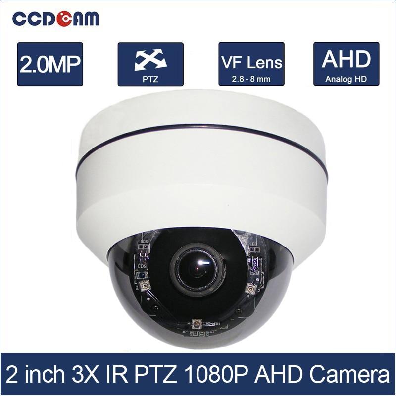 CCDCAM 2 pouce 4in1 CVI TVI AHD 2MP PTZ 1080 p 3x Zoom Optique Auto Iris Extérieure Anti-Vandalisme Nuit Vision IR 20 m PTZ caméra