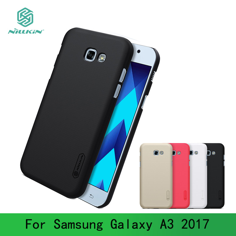 For Samsung Galaxy A3 2017 Case Cover Nillkin Frosted Case For Samsung  A3 2017 Case Hard Plastic Back Cover + Screen Protector