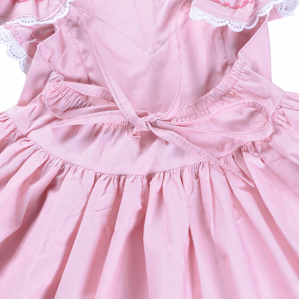 Everweekend/детское милое летнее платье принцессы с оборками розового цвета; платье с цветочным рисунком; кружевное платье-пачка для девочек; милое платье