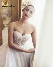Delicate Pearls A-line Princess Wedding Dresses Custom Made Sweetheart Low Back Illusion Bodice Bridal Gowns robe de mariage