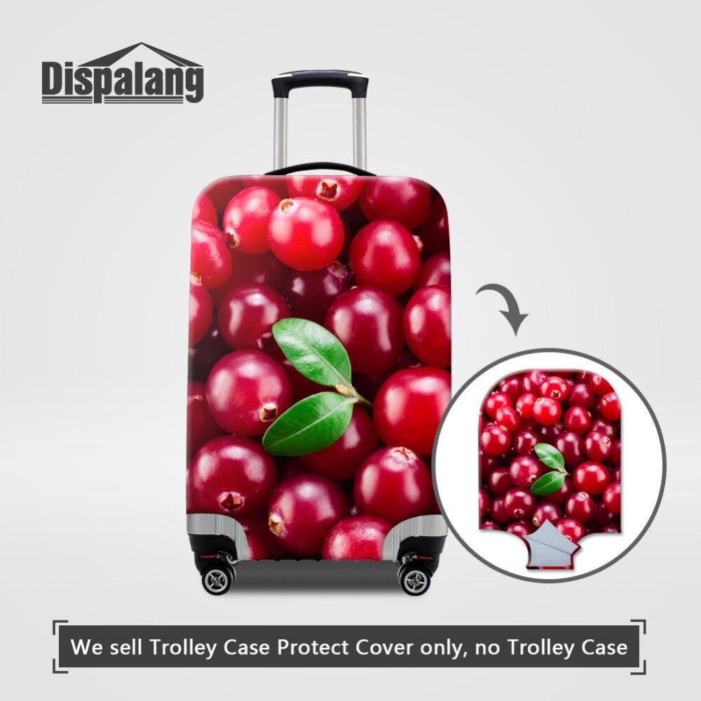 Dispalang 3D фрукты, конфеты принты чемодан защитная Чехлы для мангала полиэстер эластичные Чемодан 18-30 дюймов случае Туристические товары