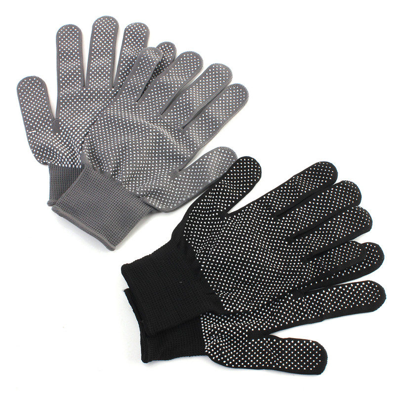 Safurance 1 Pair Hair Straightener Curling Tong Hairdressing Heat Resistant Finger Gloves Skid Resis