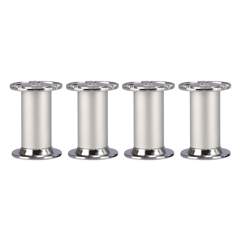 4PCS 80x32MM Aluminum Alloy Silver Furniture Legs Height Adjustable Feet Cabinet Table Legs