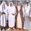 Бесплатная Доставка Хэллоуин Арабские Халат Arabian Prince Косплей Костюм Мужчины Арабская Prince Король Партии Модную Одежду 3004