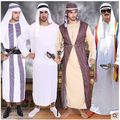 Free Shipping Halloween Arab Robe Arabian Prince Cosplay Costume Men Arab Prince King Party Fancy Clothes 3004