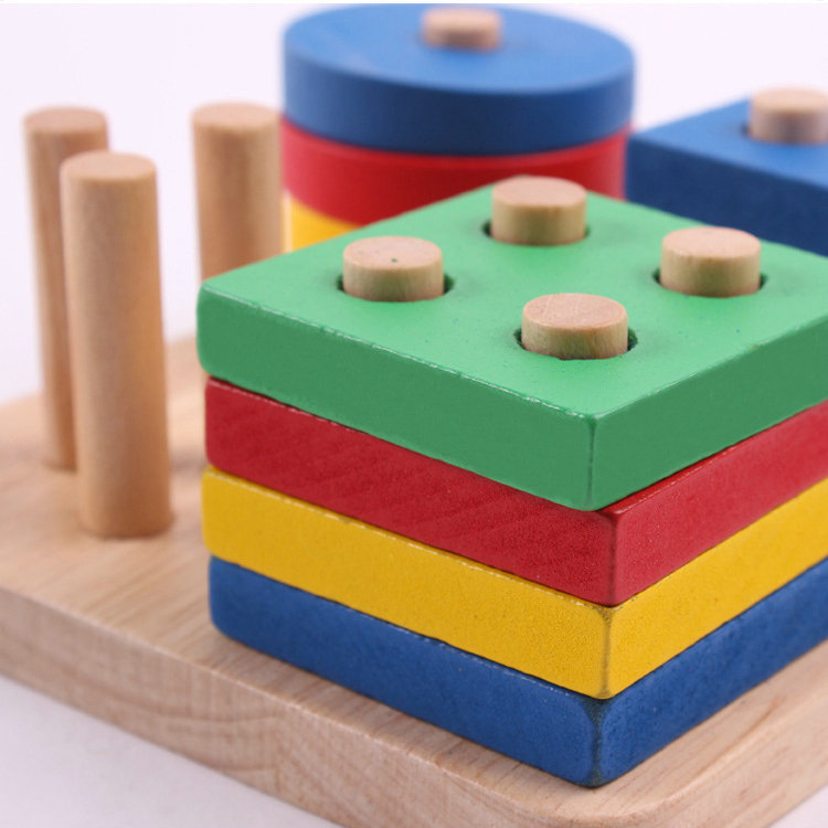 Free shipping kids wooden educational toy geometry intelligence board,children's early education montessori teaching AIDS 4