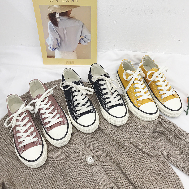 top 10 classic women low cut canvas shoes list and get free
