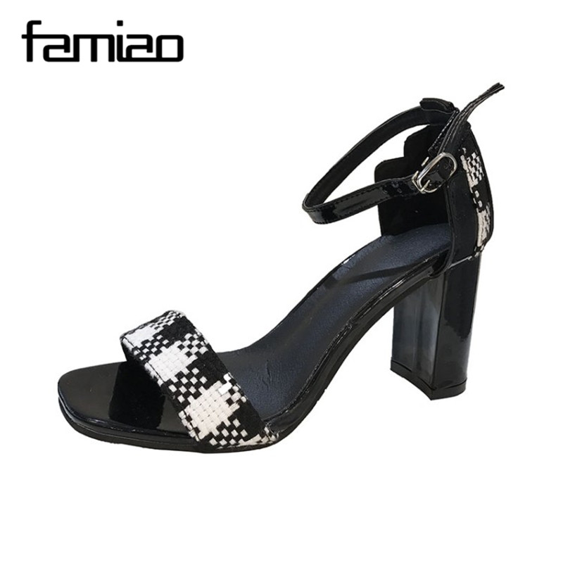 FAMIAO 2018 Summer Women Sandals Open Toe Flip Flops Womens Sandles Thick Heel Women Shoes Korean Style Gladiator Shoes ...