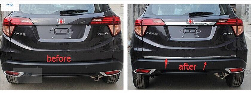 Accessoires Pour Honda HR-V VEZEL 2014 2015 2016 2017 Acier Inoxydable Arrière Hayon Tronc Couvercle Cover Version 1 pcs