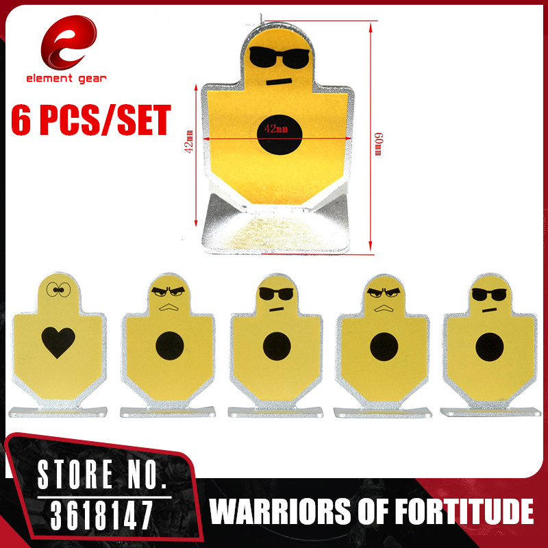 Element 6pcs/bag Hunting Accessories Aluminum Shooting Targets For Aeg Airsoft Ex118 Security & Protection