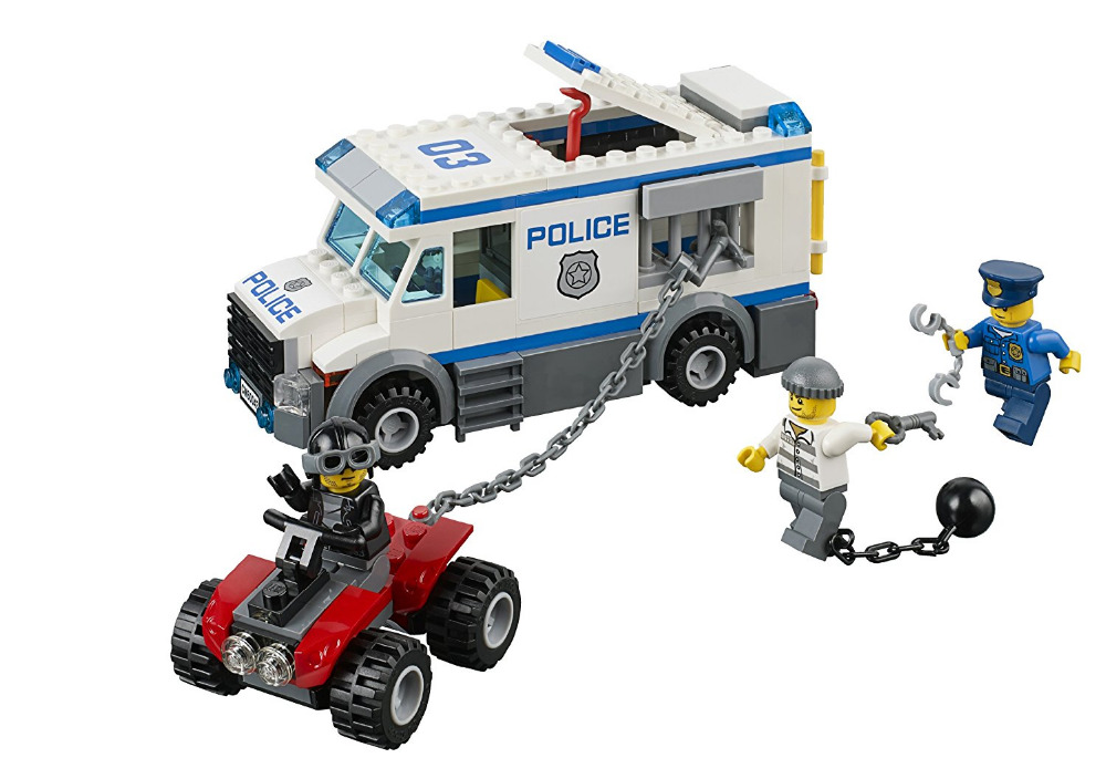 купить BELA City Police Prisoner Transporter Building Blocks Classic For Girl Boy Kids Model Toys  Marvel Compatible Legoe недорого