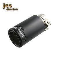 JZZ 1 قطعة مزدوجة الجدار نحى الانتهاء 304 قلادة فضية من الفولاذ المقاوم للصدأ/أسود سيارة السيارة نصائح العادم wall brush silver silvertips exhaust -