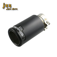JZZ 1pcs Double wall brushed finished 304 Stainless Steel silver/black vehicle car exhaust tips