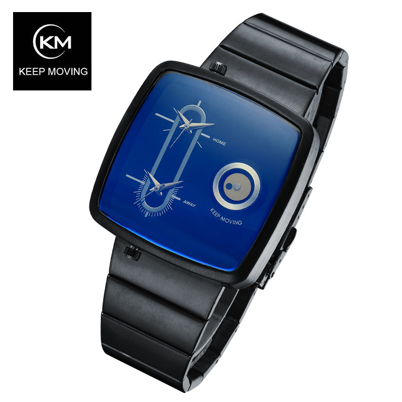 все цены на KEEP MOVING Dual movement of high end man leisure quartz watches Men Luxury Brand Stainless Steel Sport Wrist Watches Reloje онлайн