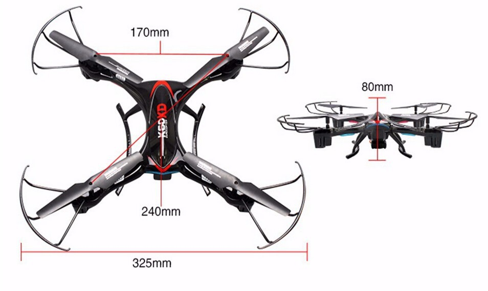 drone size