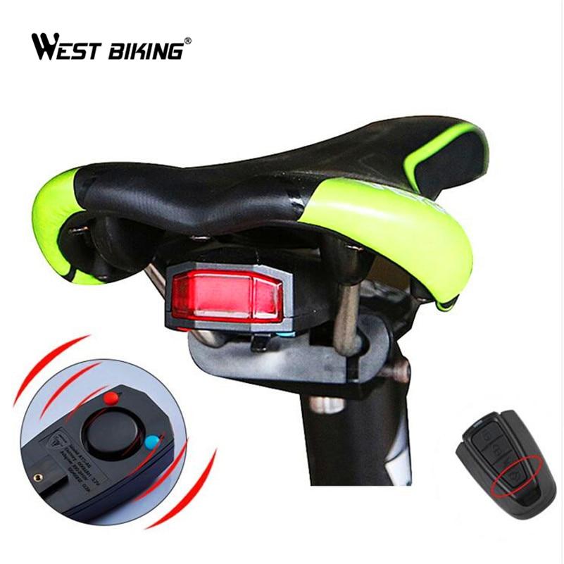 WEST BIKING Waterproof Anti-theft Alarm Bike Light <font><b>Saddle</b></font> Taillight Warning Flashlight Cycling Rear Lamp Antitheft Bicycle Light