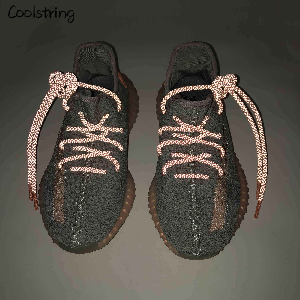 Coolstring Cool Highlight 3M Round Reflective Shoe Laces Athletic Safety Sneakers Shoelaces Night Walk Running Bootlace Latchet