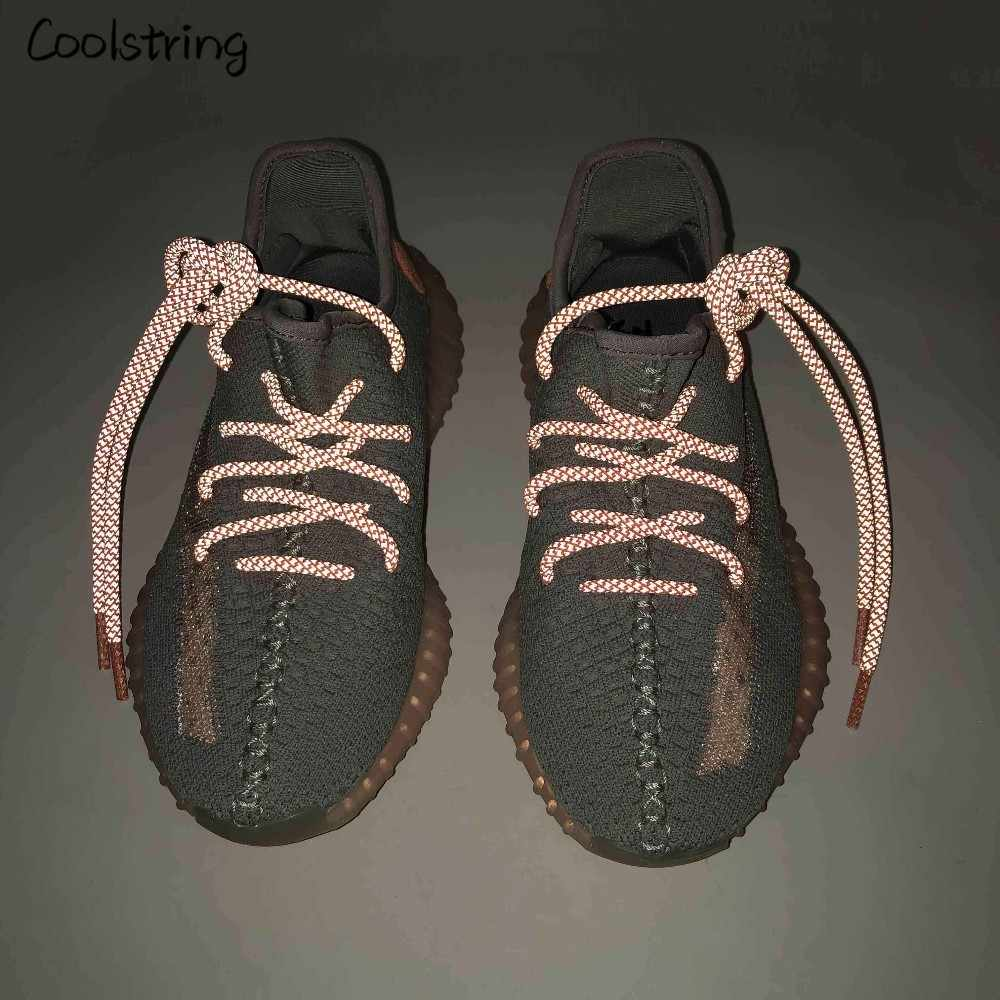 Coolstring クールハイライト 3 メートルラウンド反射靴ひもアスレチック安全スニーカー夜の散歩ランニング絶縁被覆付ラチェット