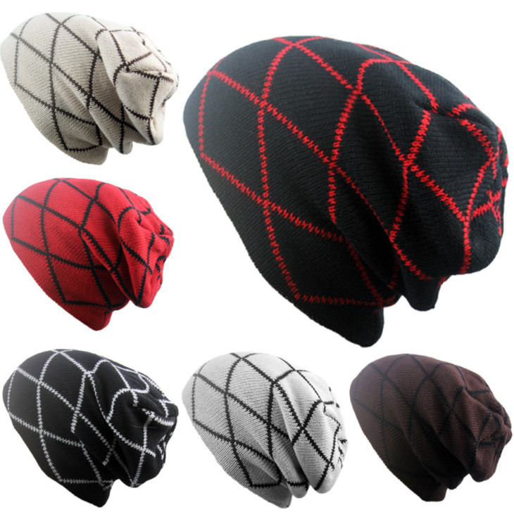 Warm-Hats Winter Cotton 100pcs Scarves Beanies Headgear Colorful Striped New-Layers