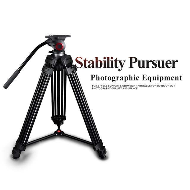 Miliboo MTT601A Профессиональный Портативный Алюминиевый Видеокамера Штатив для Видео/DSLR Камеры Стенд, с Гидравлическим Мяч Головой