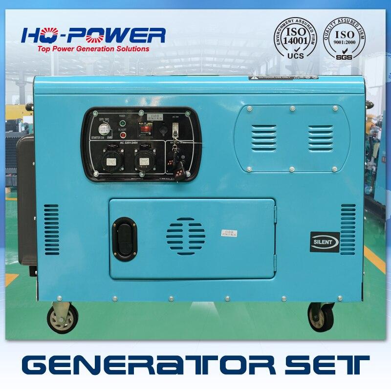 Silent portable diesel generator set 10kvaSilent portable diesel generator set 10kva
