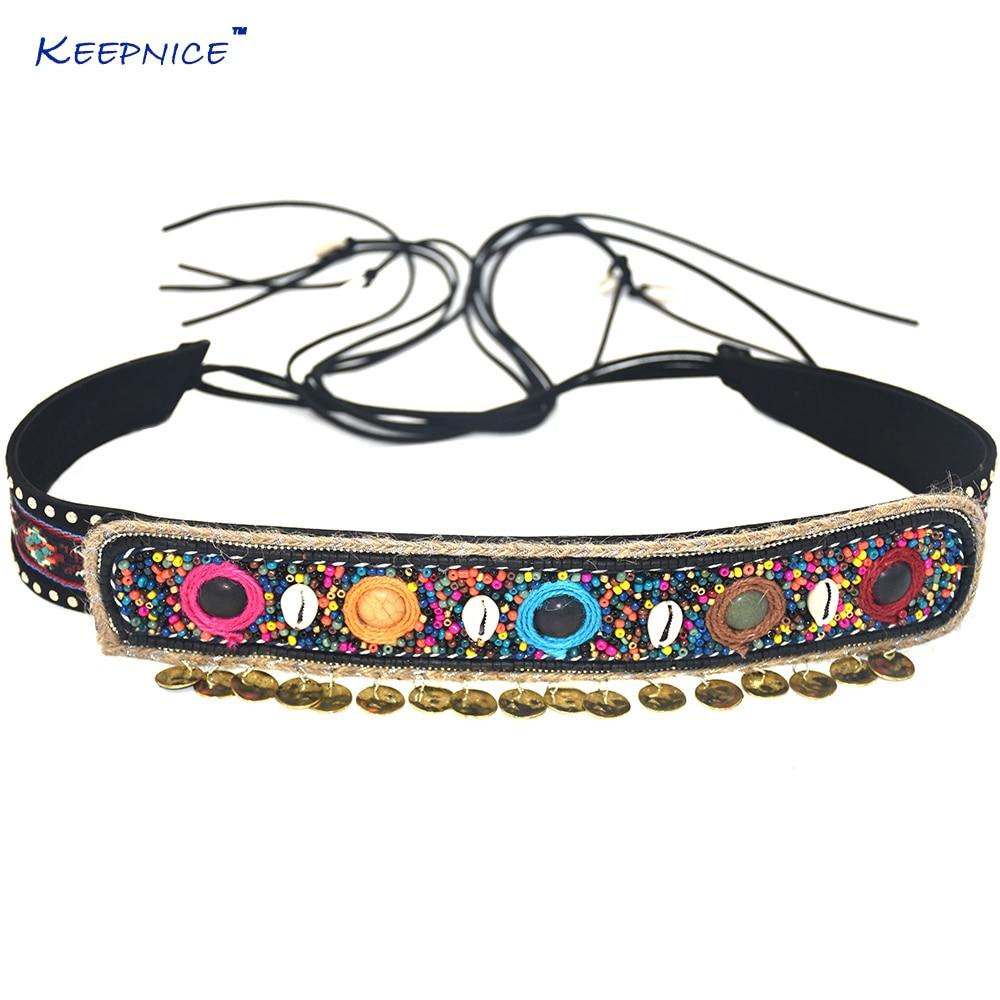 Gypsy Hippie Boho Bohemian Belly Chain Belt Dance Body Chain Ethnic Sash Casual Waist Belt Dresse Retro Black Leather Belts