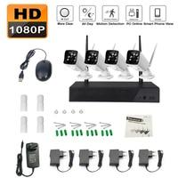 WiFi HDMI 4CH 1080P Network DVR 1300TVL IR Outdoor CCTV Security Cameras System