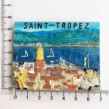 Франция Прованс Кот д 'Азур Vale St Tropez трехмерный Пейзаж Туристический сувенир стикеры на холодильник