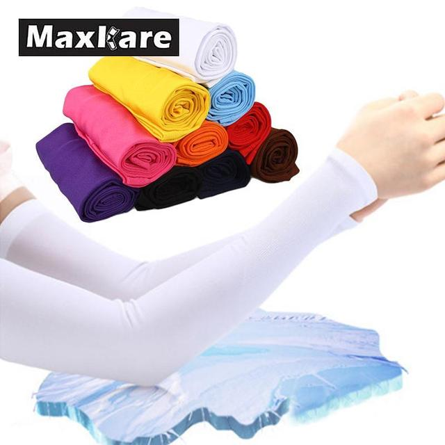 Aliexpress com : Buy Maxkare 1 Pair MTB Bicycle Sleeve Summer Bike  Breathable Sun UV Protection Arm Sleeves Cycling Arm Warmers Sleeve Outdoor  Riding