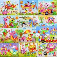 Subcluster 5 Pcs/Set DIY 3D Eva Crafts Toys Handmade EVA Foam Puzzle Sticker Learning Education