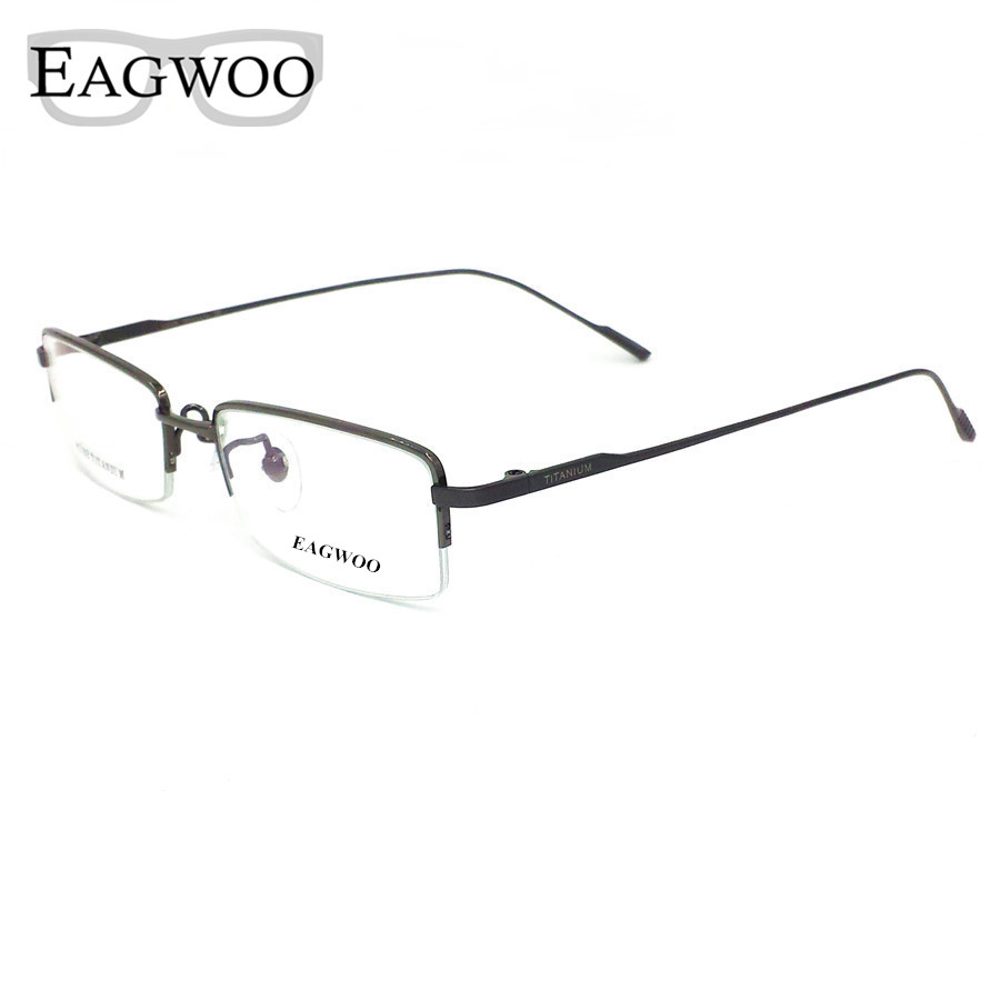Frameless Prescription Glasses : Pure Titanium Eyeglasses Half Rim Optical Frame ...