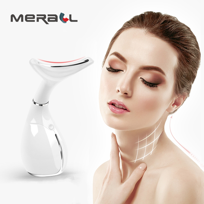 Neck Massager Anti Wrinkle Facial Tighten Microcurrent Vibration Lifting Anti Aging Beauty Eletric Physical Therapy Health Tools