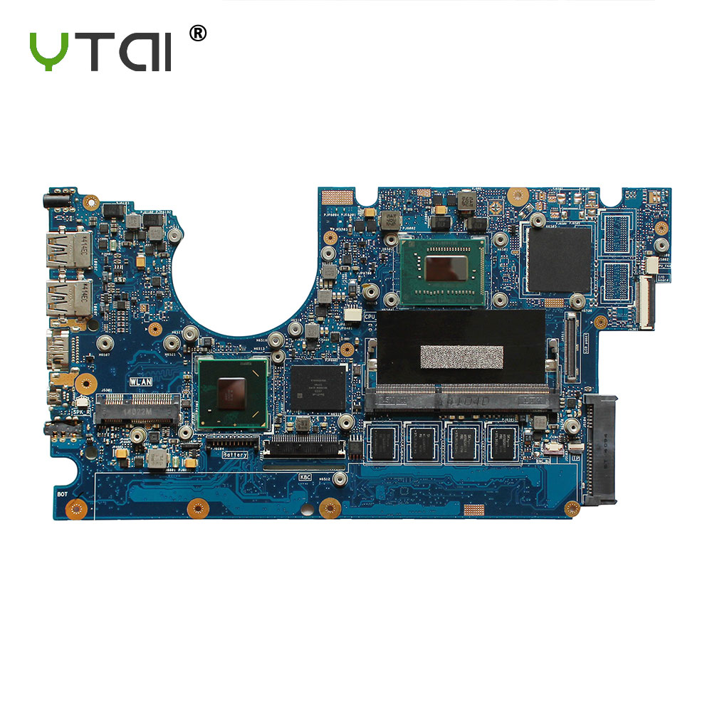 цена на YTAI Original For ASUS UX32A UX32V UX32VD REV 2.4 I5-3317U laptop notebook motherboard HM76 60-NY0MB1200-A02 DDR3 2G