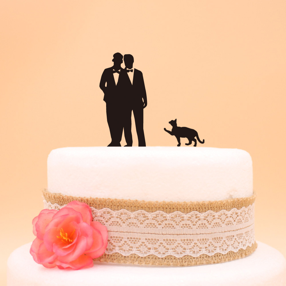 Free shipping gay wedding cake topper for wedding cake accessory Acrylic Gay Wedding Cake Topper  cake toppergay Pet CatFree shipping gay wedding cake topper for wedding cake accessory Acrylic Gay Wedding Cake Topper  cake toppergay Pet Cat