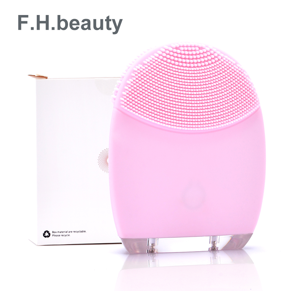 F H beauty Electric Face Cleanser Vibrate Pore Clean Silicone Cleansing Brush Massager Facial Vibration font