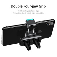 USAMS Car mobile phone Holder 360 Rotate Air Vent Holder Clips car phone holder support 4-6 inch smartphone holder bracket stand