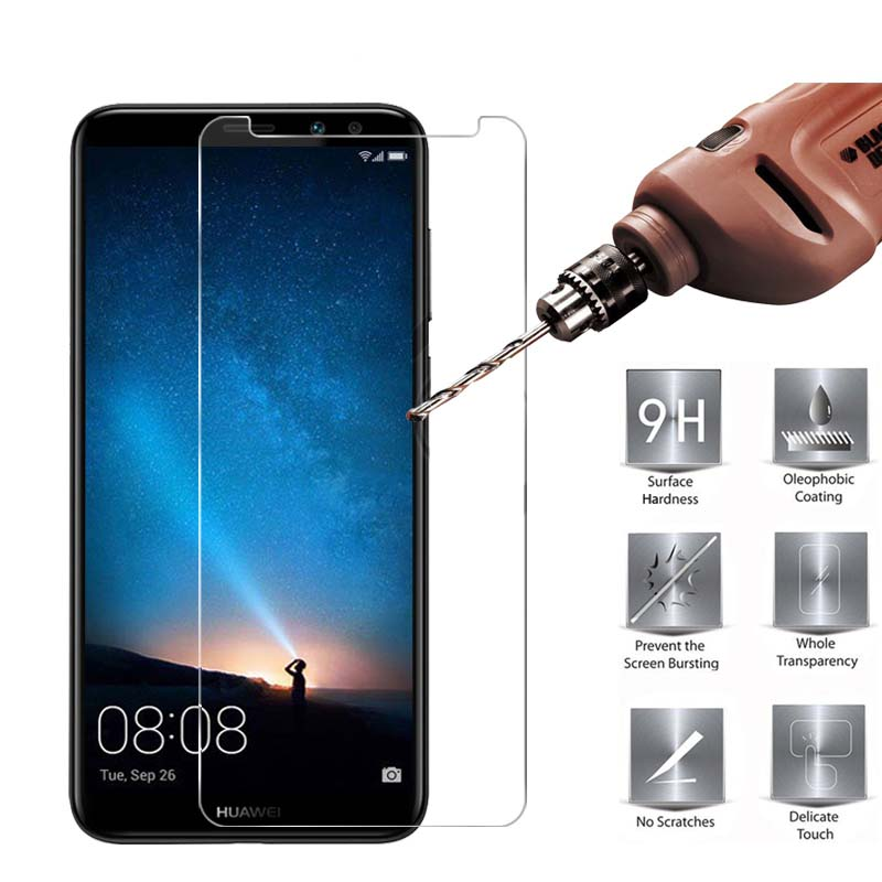 MRGO Tempered Glass for Huawei Mate 10 Lite Screen Protector Protective Film, On Mobile Phone for Huawei Mate 10 Lite Glass