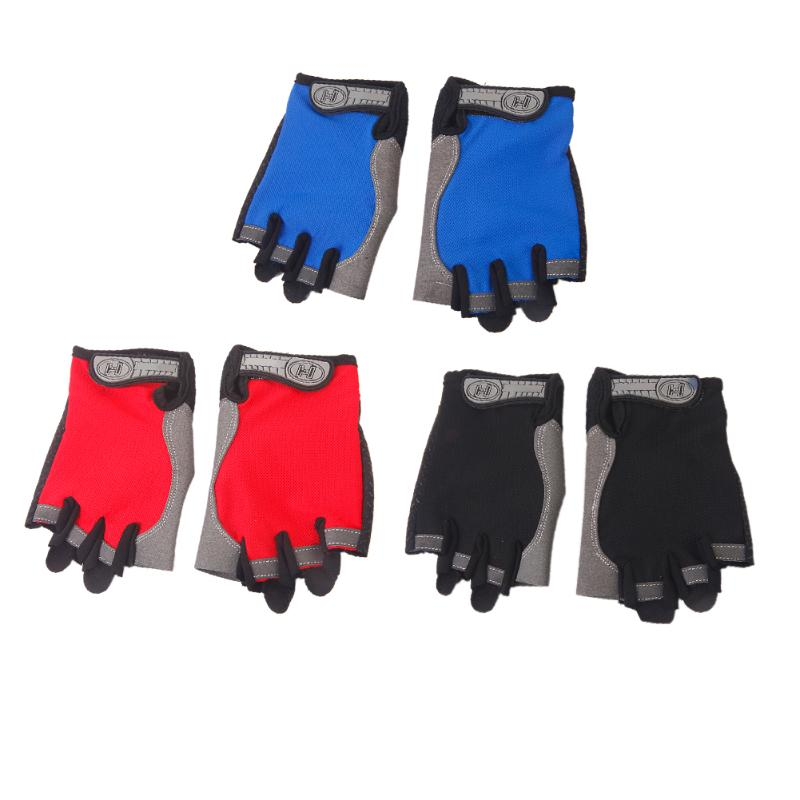 Thin Outdoor Sports Bike Cycling Gloves Anti skid Pad Half Finger Breathable font b Fitness b