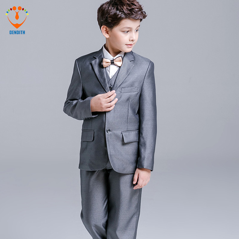 5 Pcs/Set new spring children's leisure clothing sets kids baby boy suit vest gentleman clothes for weddings formal wedding suits for baby boys 3 pieces set autumn spring 2018 kids leisure clothing sets kids baby boy suit vest gentleman clothes